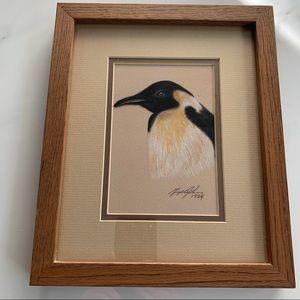 Vintage Pinguin Pastel Art